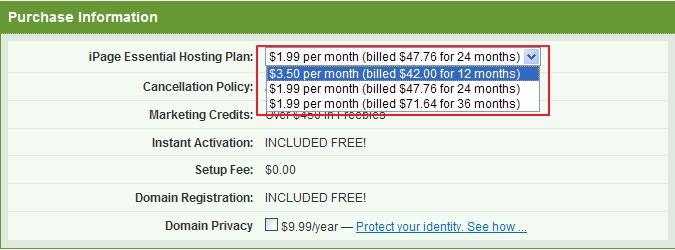 iPage美国主机$1.99促销 清凉过盛夏
