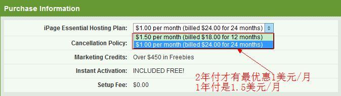 美国主机iPage限时1美元特价促销