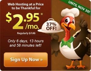 iPage美国主机感恩节特殊优惠
