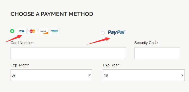 iPage选择支付页面